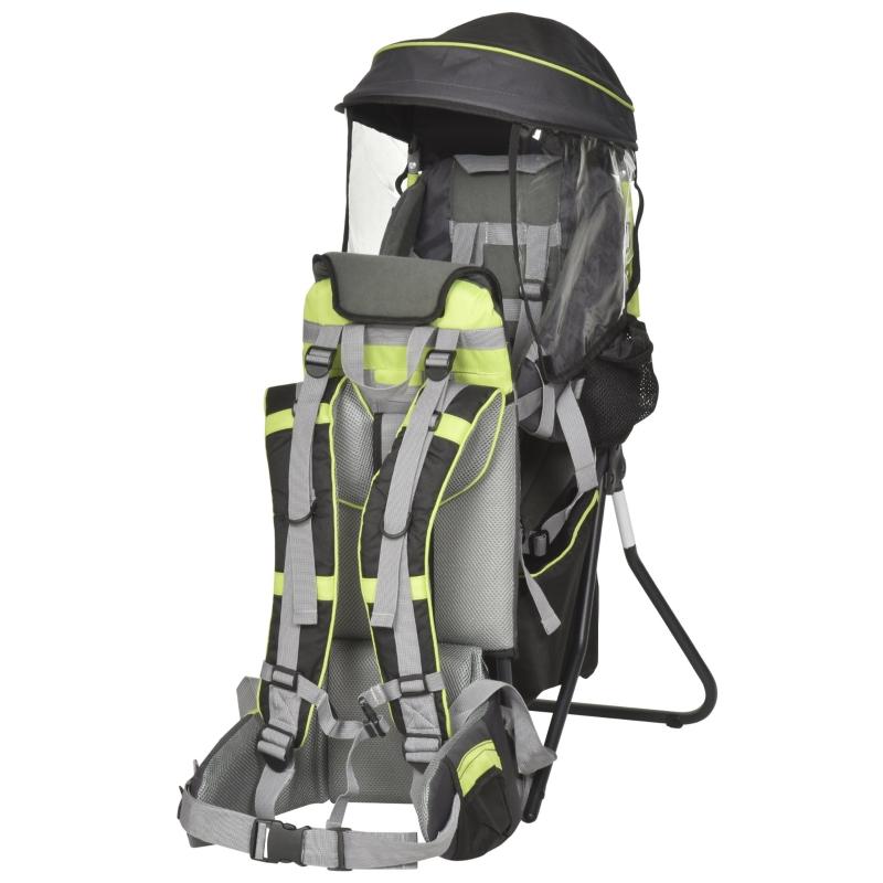 Nosidło nosidełko podróż plecak ze stelażem na 6-36 miesięcy do 20 kg aluminium zielony