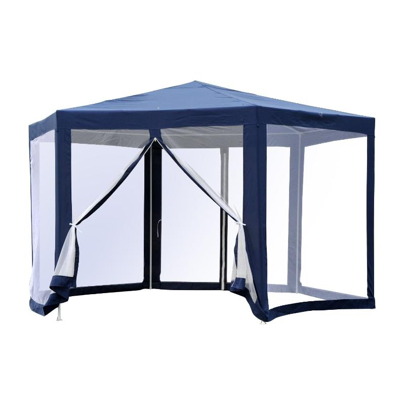 Namiot pawilon ogrodowy 3,9m x 3,9m niebieski Outsunny