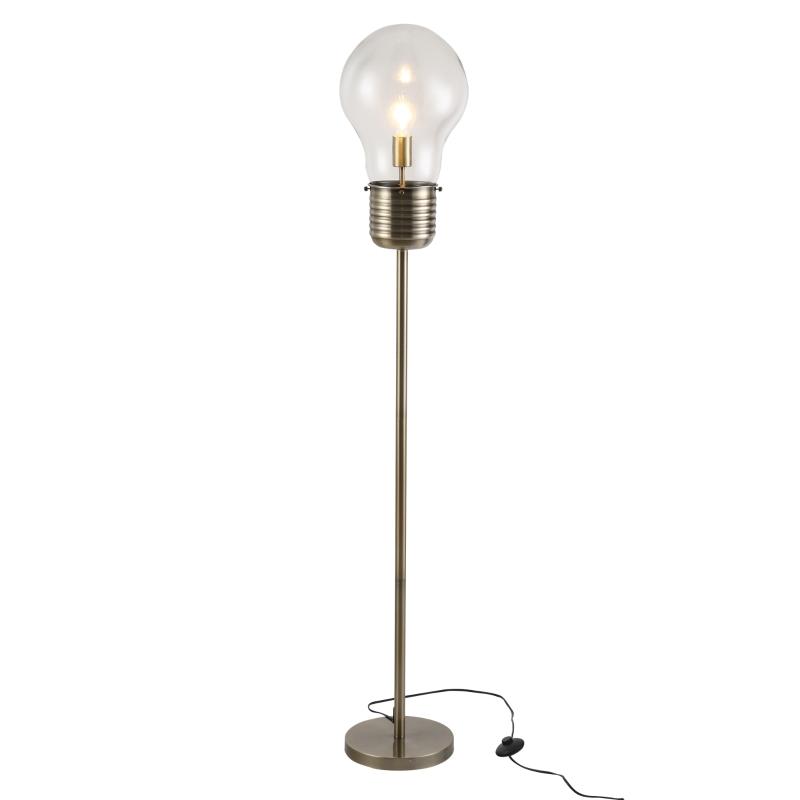Lampa podłogowa w stylu industrialnym Lampa stojąca LED oprawka E27 brąz