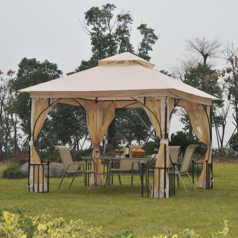 altana ogrodowa namiot imprezowy pawilon namiot ogrodowy namiot okolicznościowy podwójny daszek 3x3 m
