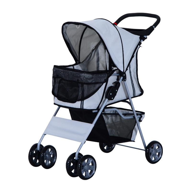 Wózek spacerowy dla psa kota szary PawHut