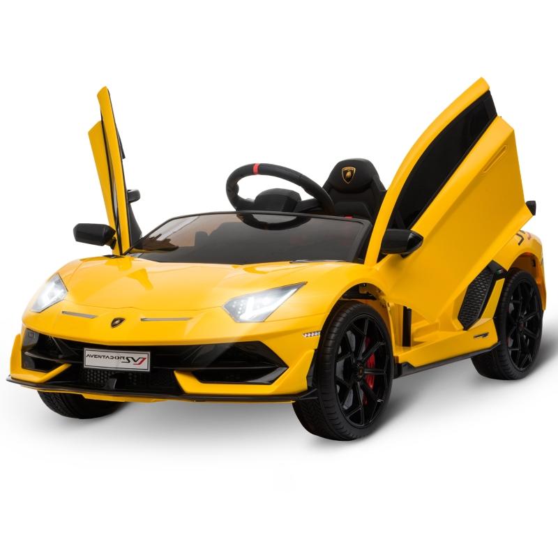 Lamborghini SVJ samochód dla dzieci 3-8 lat z MP3 Żółty HOMCOM®