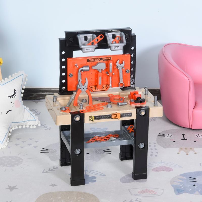 Stół warsztatowy dla dzieci blat warsztatowy z akcesoriami odgrywanie ról od 3 lat