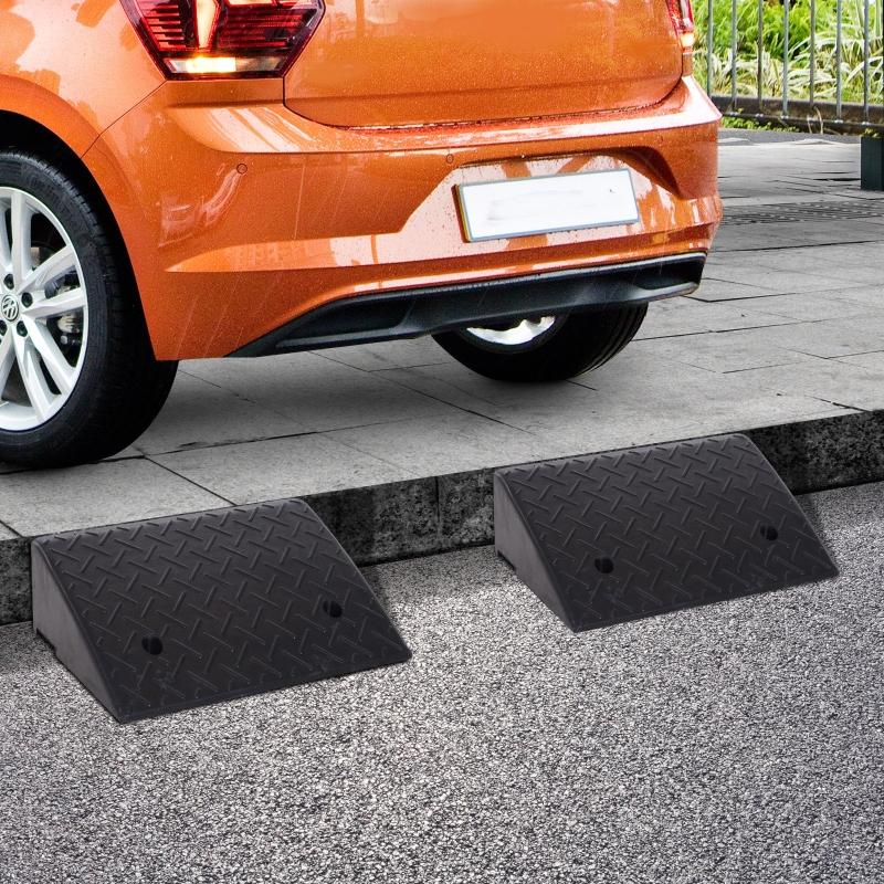 2 rampy najazdowe Rampa krawężnikowa Najazd dla samochodów guma czarny