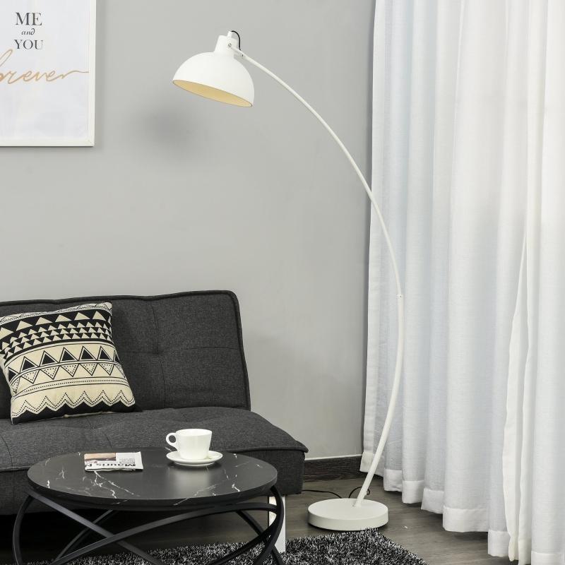 Lampa łukowa z regulowanym kloszem E27 lampa podłogowa łukowa oświetlenie wnętrza metal