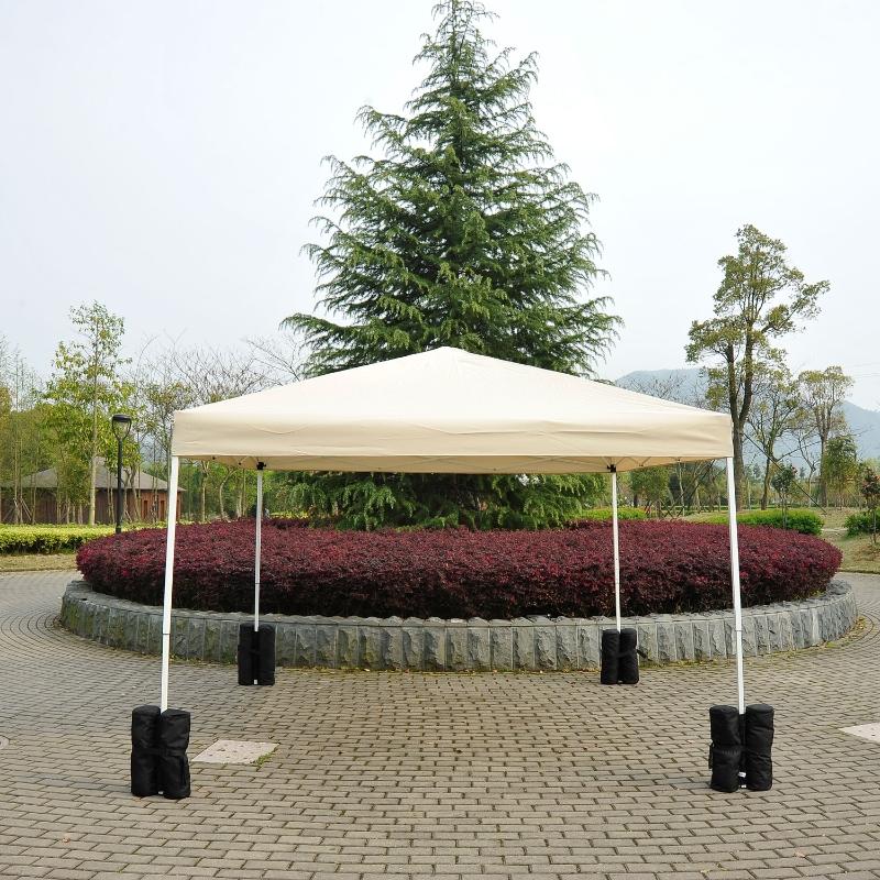 Stojak na rurę pawilon ogrodowy składany imprezowy zestaw 4 sztuki czarny Outsunny