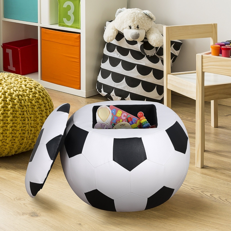 Sofa dziecięca, fotel dziecięcy, pufa dziecięcy, kształt piłki nożnej ze schowkiem 3-6 lat