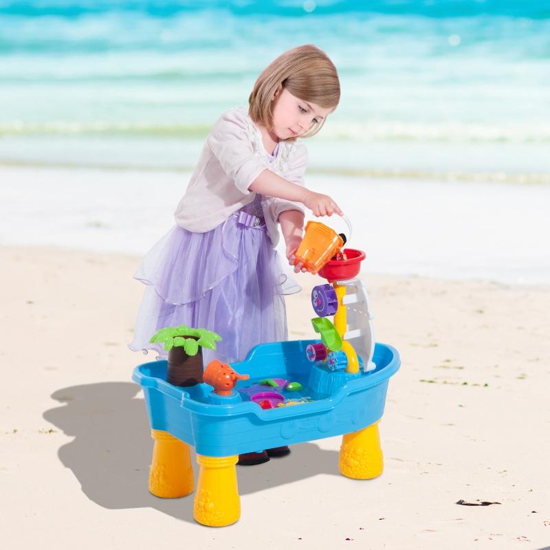 HOMCOM® Stół Wodny Dla Dzieci z Akcesoriami