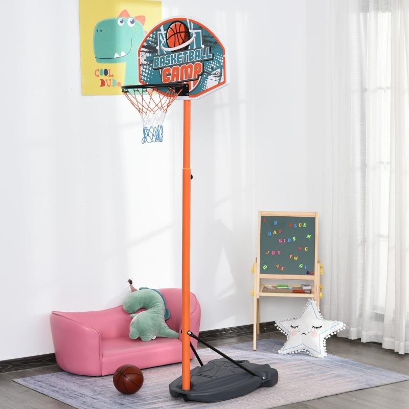 Dziecięcy kosz do koszykówki obręcz do koszykówki regulowany ze stojakiem kolor niebieski+czarny