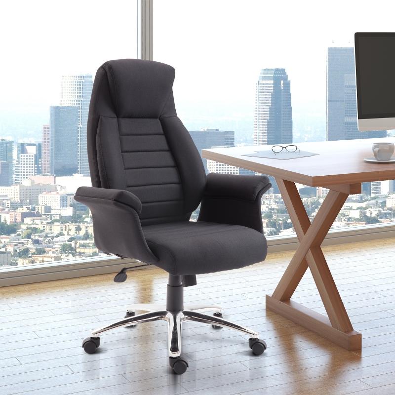 HOMCOM Fotel biurowy Krzesło regulowane czarny