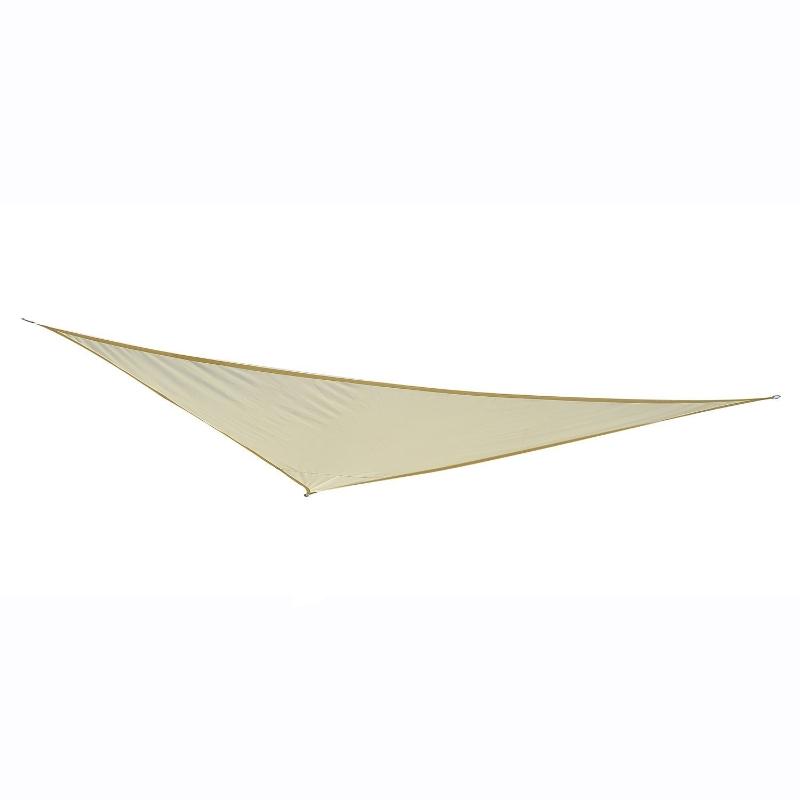 Żagiel przeciwsłoneczny trójkąt 6x6x6m poliester kremowy Outsunny