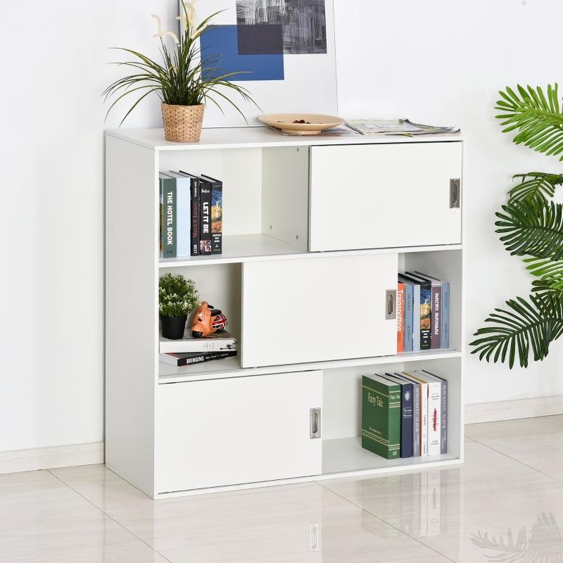 Regał na książki szafa stojąca szafa na akta szafa wielofunkcyjna biały 120x40x120 cm