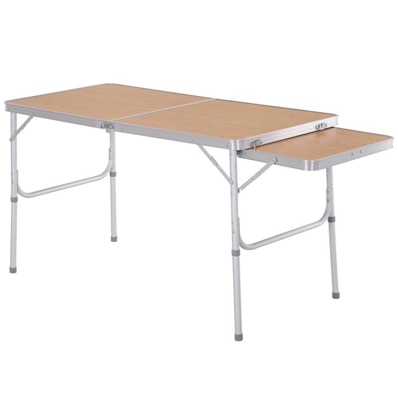 Stół kempingowy składany piknikowy regulacja wysokości Outsunny
