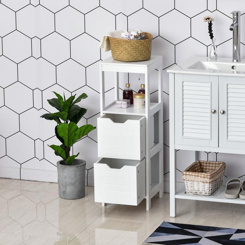 Regał łazienkowy Szafka łazienkowa Szafka kuchenna z szufladami otwarte półki MDF