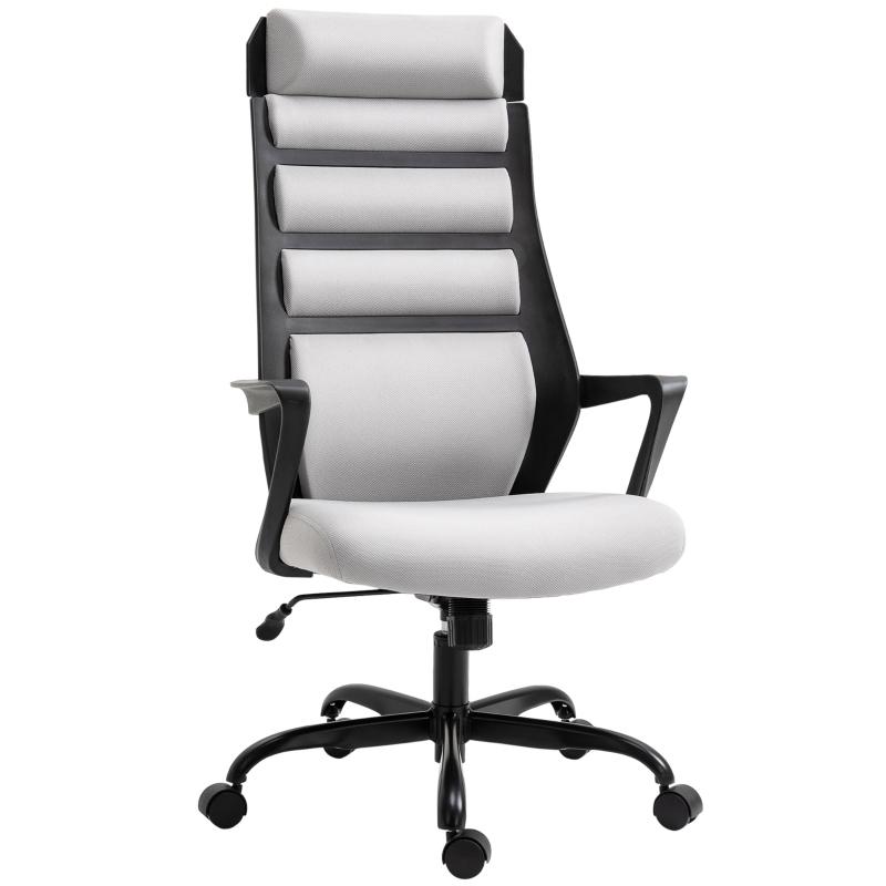 Krzesło biurowe Krzesło obrotowe z funkcją przechylania z regulacją wysokości stal szary