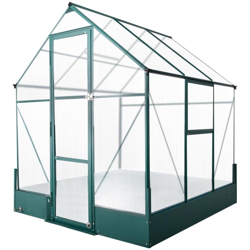 Szklarnia do ogrodu cieplarnia do pomidorów skrzynia inspektowa 190x190x220cm