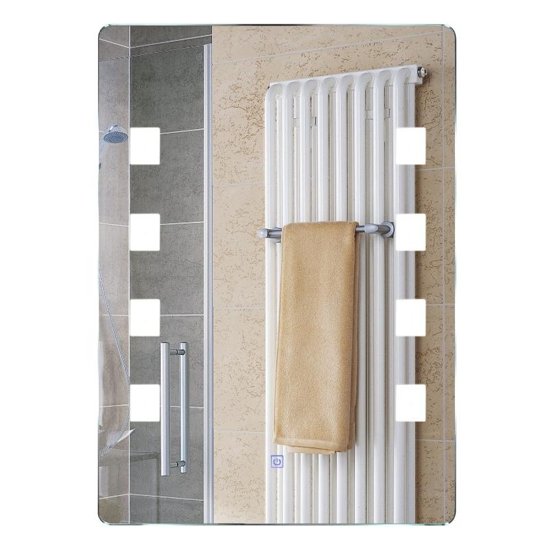 HOMCOM LUSTRO ŚCIENNE  ŁAZIENKOWE PODŚWIETLANE LED 60 x 80 x 4cm