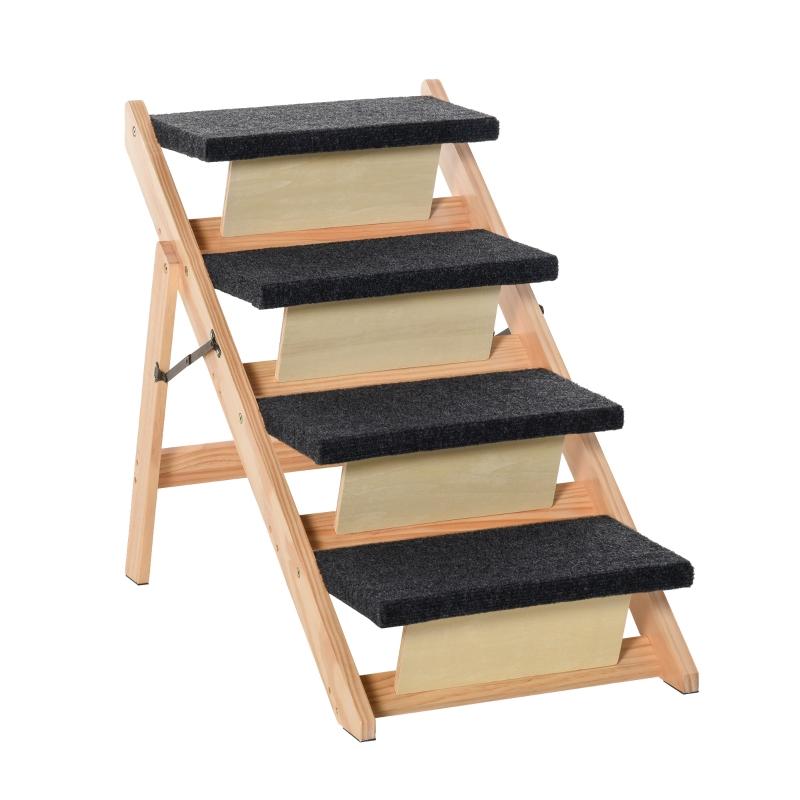 Schody dla zwierząt domowych 2 w 1 Rampa dla psa Schody dla kota Schody dla psa Składane schody dla zwierząt drewno