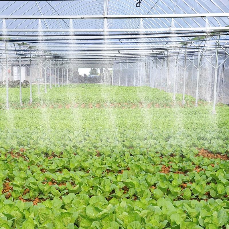 Outsunny® System Nawadniania Chłodzenia Mgiełką Natryskową Outdoor Mosiądz Nawadnianie Kropelkowe