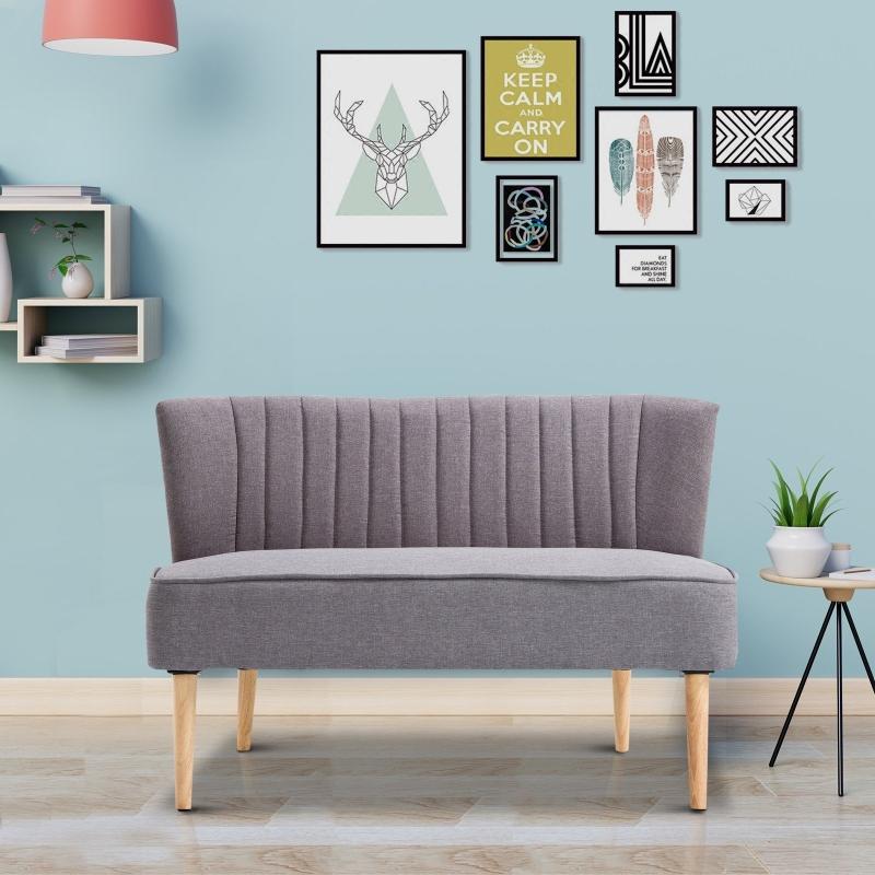 2-osobowa kanapa sofa tapicerowana meble wypoczynkowe 2 kolory