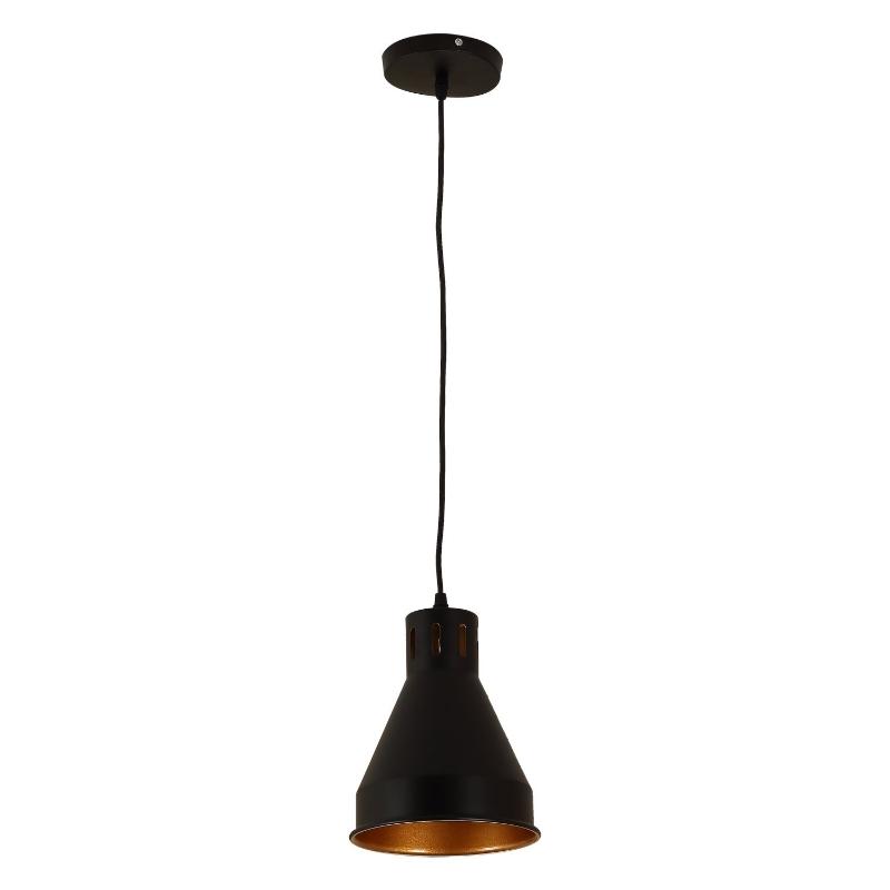 HOMCOM LAMPA SUFITOWA WISZĄCA Ф19CM E27 METAL czarna
