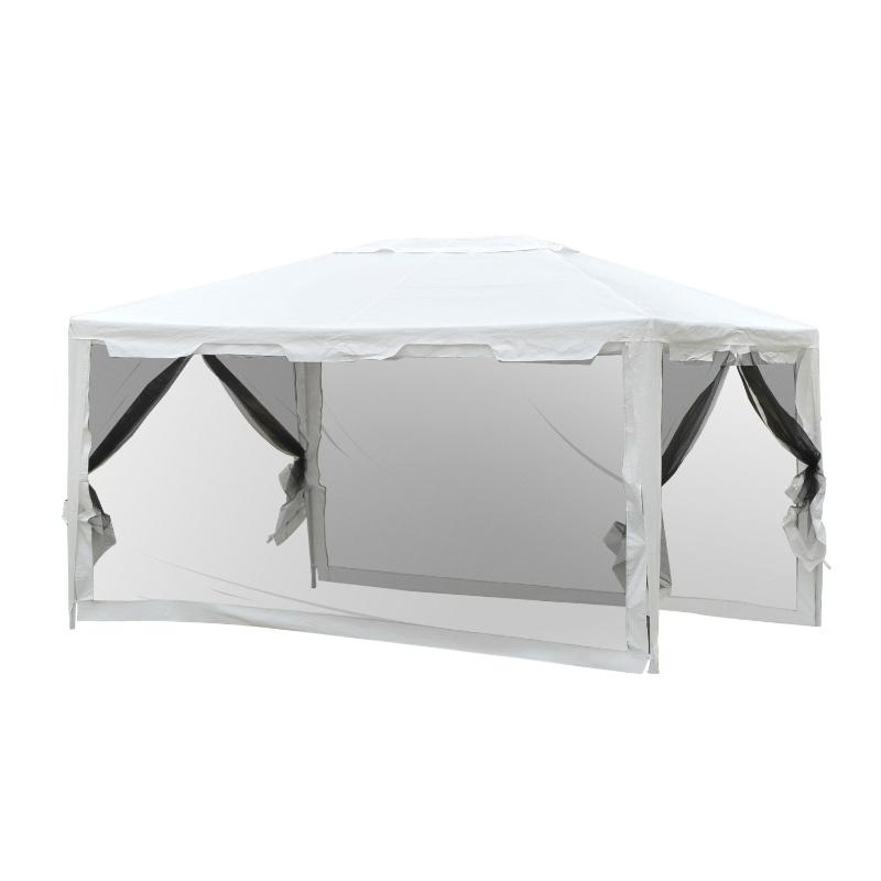 Luksusowy namiot ogrodowy pawilon składany 4 x 3 m Outsunny