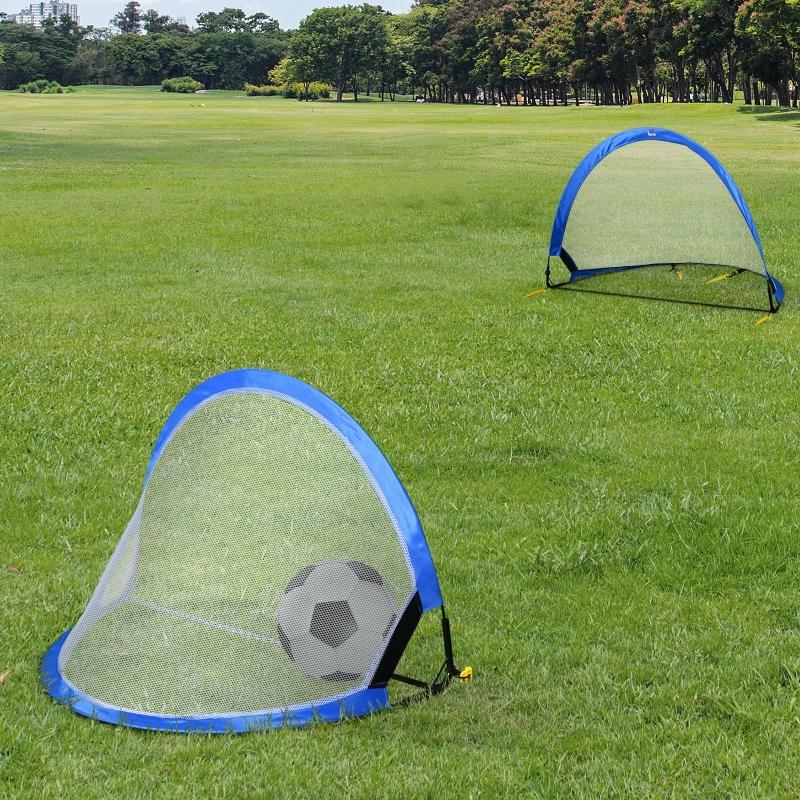 Bramki pop up Bramki do piłki nożnej Przenośna siatka do piłki nożnej zestaw 2 szt. składane 78x52x55 cm