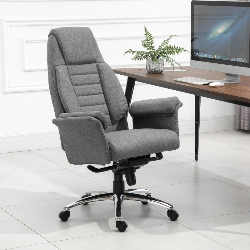 Vinsetto Krzesło biurowe Ergonomiczne krzesło obrotowe z podłokietnikami