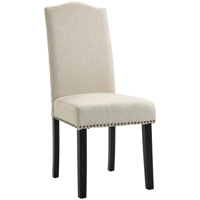 Krzesła do jadalni zestaw 2 krzeseł krzesło kuchenne do salonu z beżowym oparciem