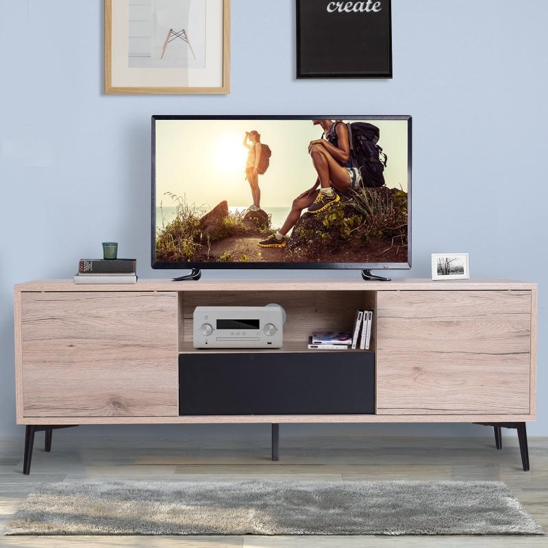 HOMCOM® STOLIK RTV SZAFKA STOJAK LOWBOARD  drewno 120 x 40 x 44 cm