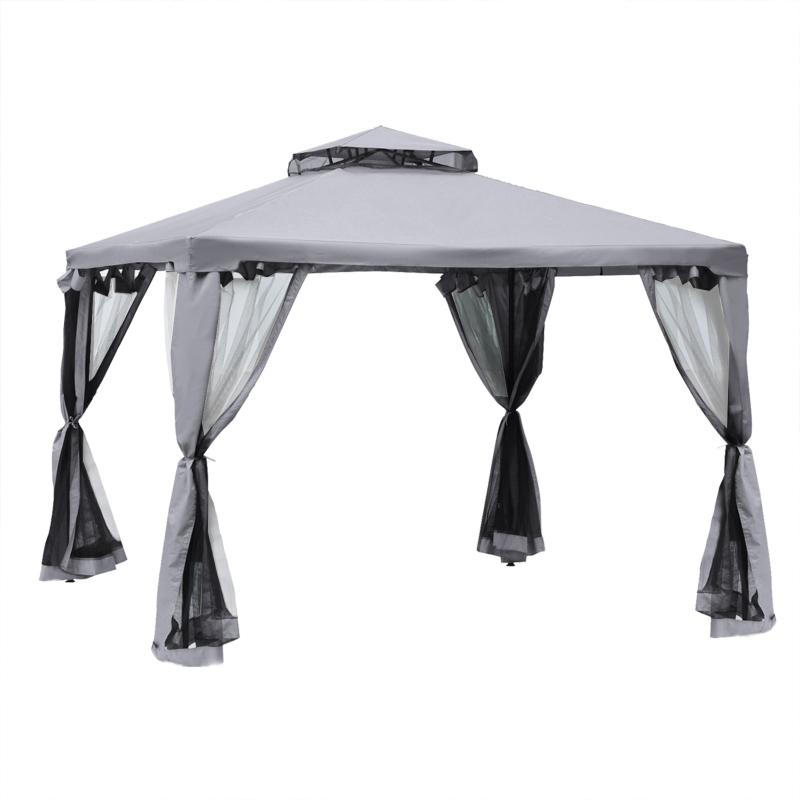 Altana ogrodowa pawilon namiot imprezowy namiot okolicznościowy namiot ogrodowy z 4 ścianami bocznymi 3 x 3 m