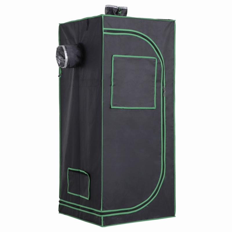 Namiot do uprawy roślin szklarnia growbox tkanina oxford 600D stal kolor czarny + zielony Outsunny