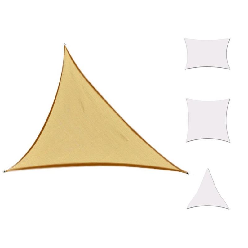 Żagiel przeciwsłoneczny trójkąt 5x5x5m poliester piaskowy Outsunny