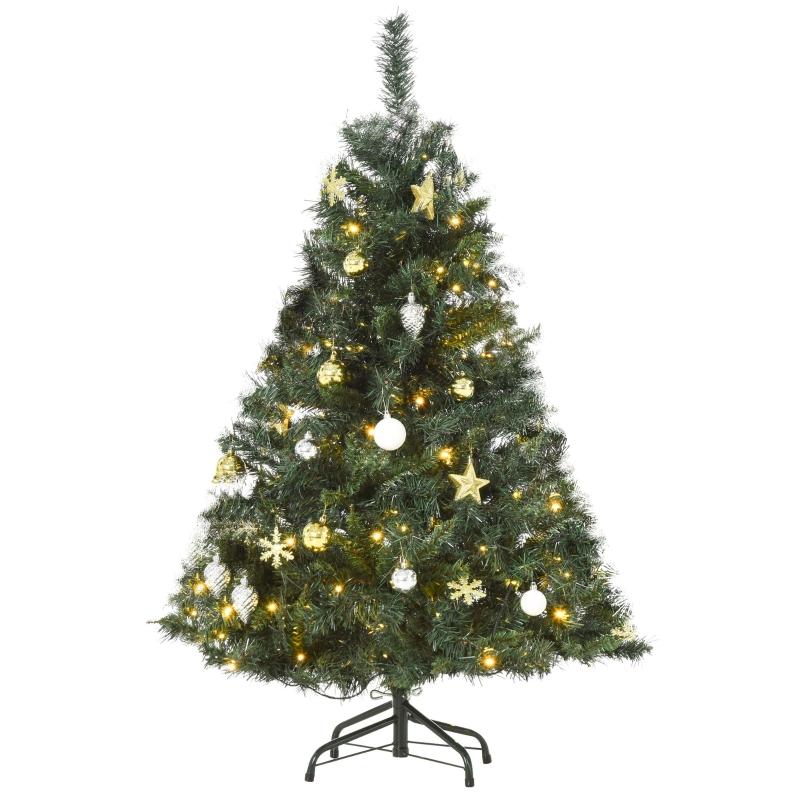 kerstboom dennenboom met decoratie 80/120 LED's 307 takpunten Ø 75 x 120 h cm