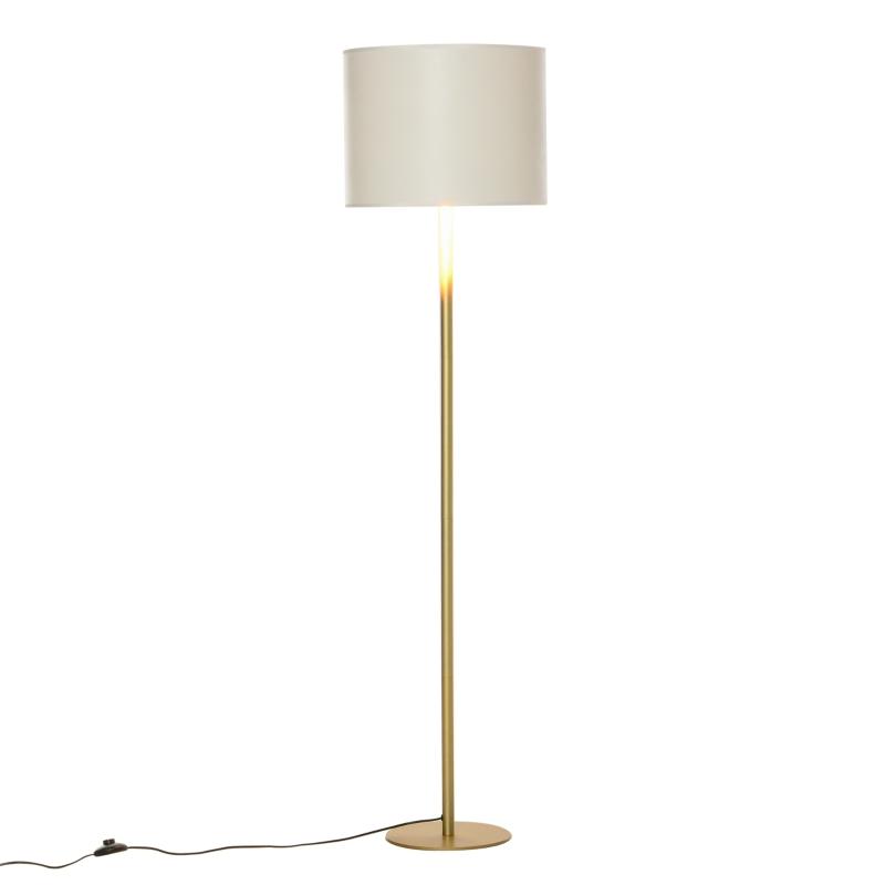 Vloerlamp met PU-trommelkap voor op kantoor in de woonkamer wit