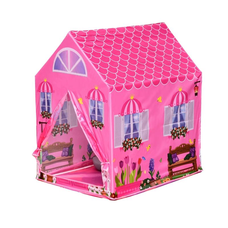 Kinderspeelhuis 2 deuren prinses speeltent huispatroon vanaf 3 jaar rollenspel