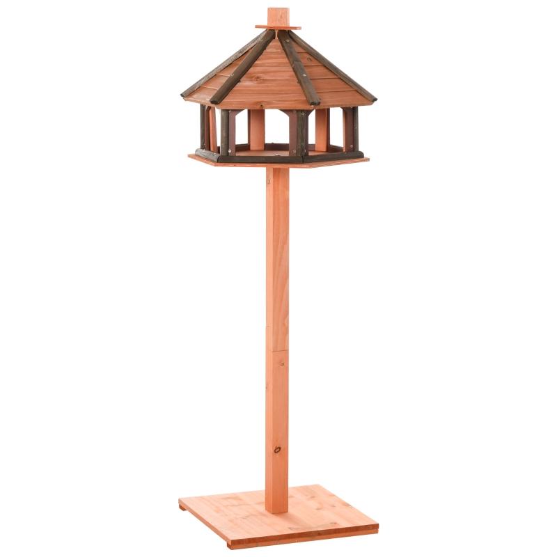 Vogelhuisje houten vogelstandaard met waterbestendig dak vogelvoederhuis