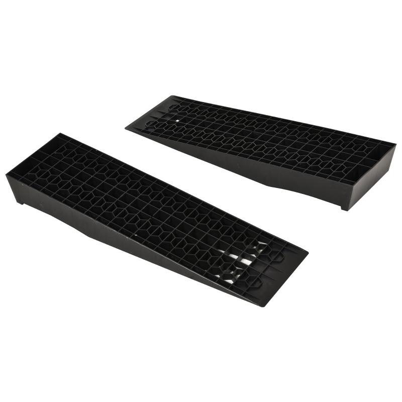 2 oprijplaten drempel oprijplaat oprit rubber oprijplaten PP zwart 70x20x8cm