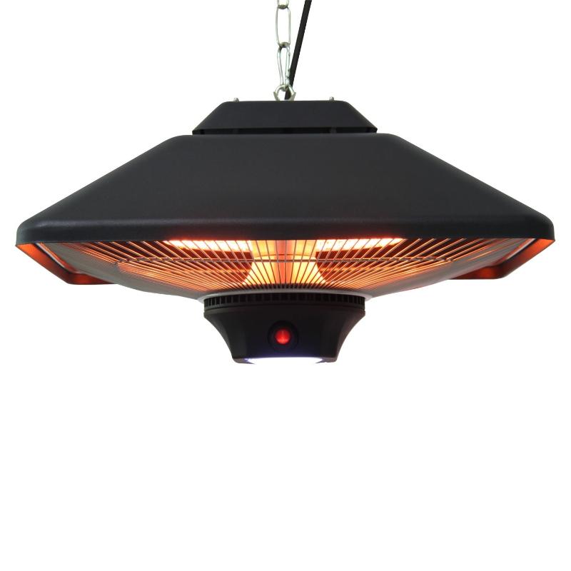 Terrasverwarmer plafondverwarmer met LED-verlichting afstandsbediening 2000 W