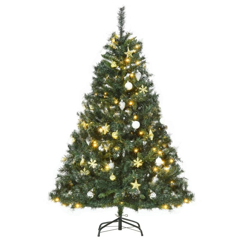 kerstboom dennenboom met decoratie 120 LED's 511 takpunten Ø 95 x 150 h cm