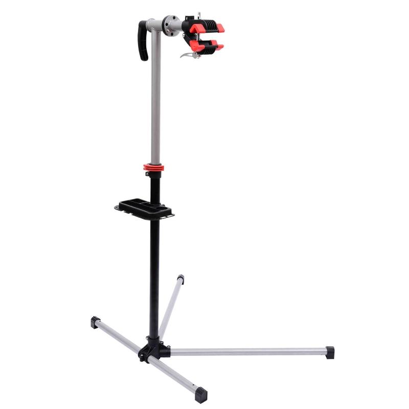 Fietsmontagestandaard, reparatiestandaard, montagestandaard met gereedschapsbak fiets