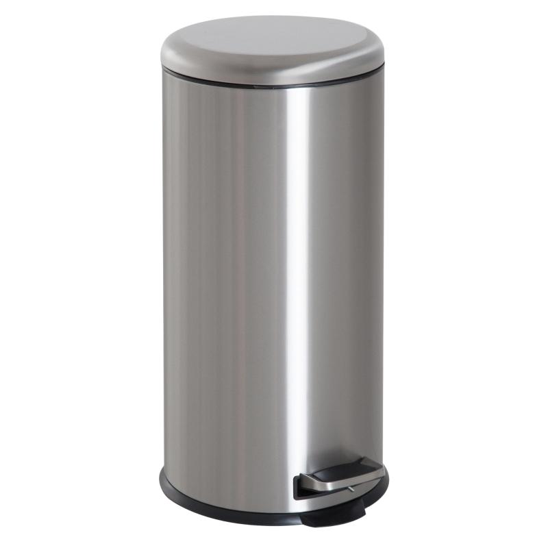 Pedaalemmer afvalbak met pedaal prullenbak vuilnisbak met scharnierend deksel 30 L