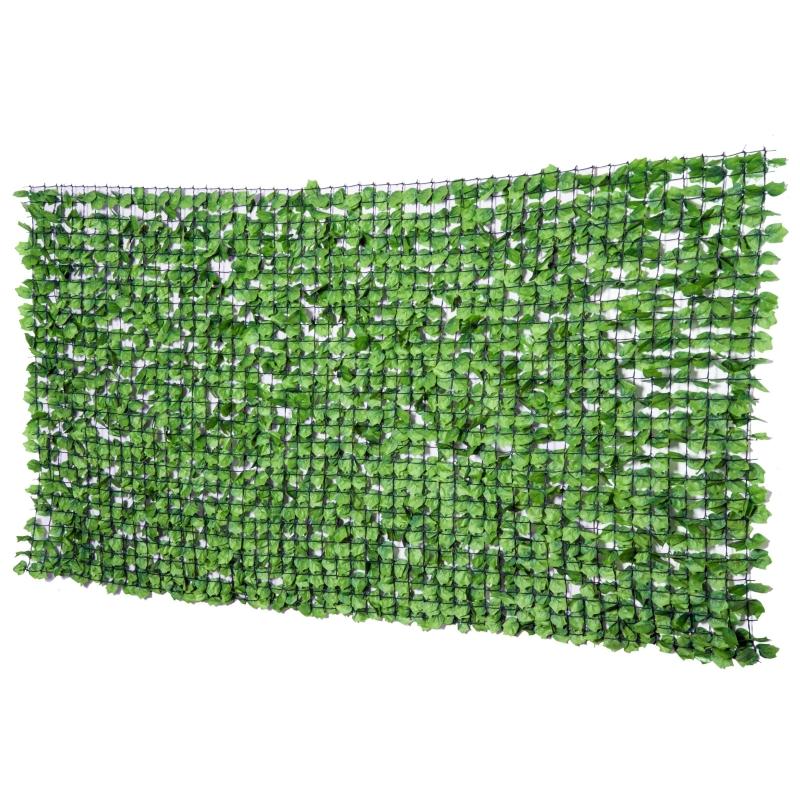 Kunsthaag wanddecoratie privacy haag planten haag lichtgroen
