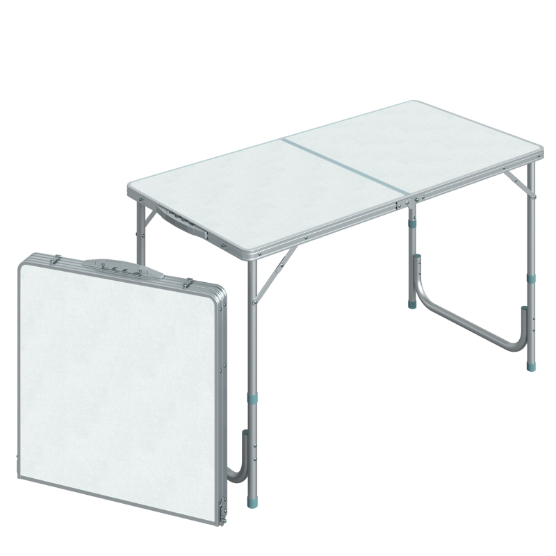 Outsunny Portable Aluminum Foldable Table