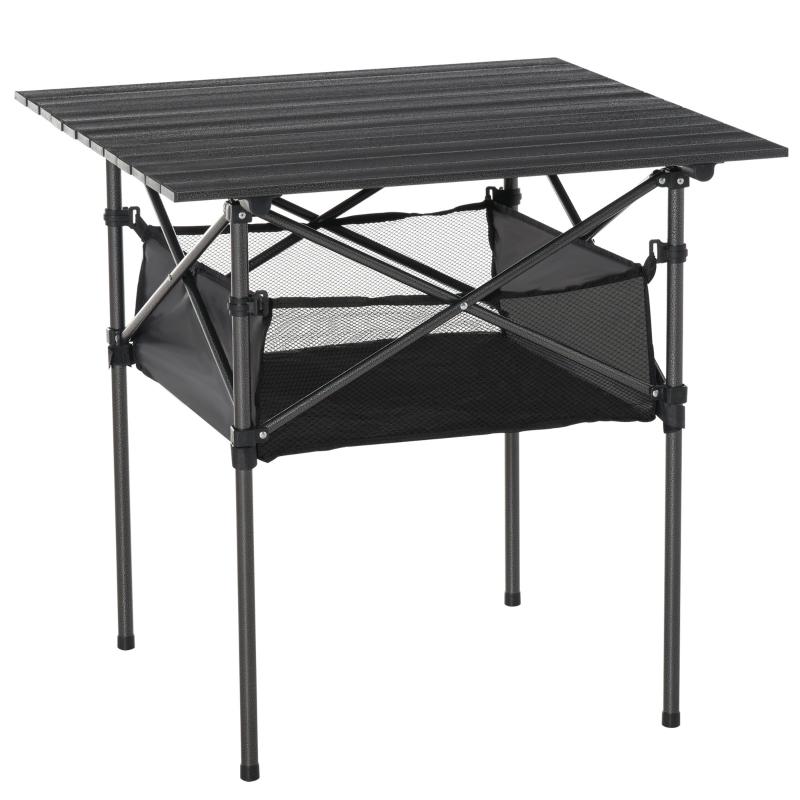 Outsunny Outdoor Folding Camping Table W/ Storage Bag, Portable for Garden Beach Picnic