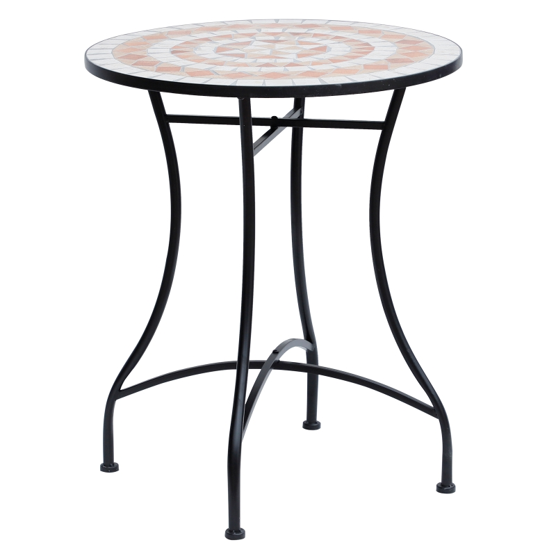 Outsunny Mosaic Round Bistro Table Garden Furniture Side Bar Table Patio Outdoor
