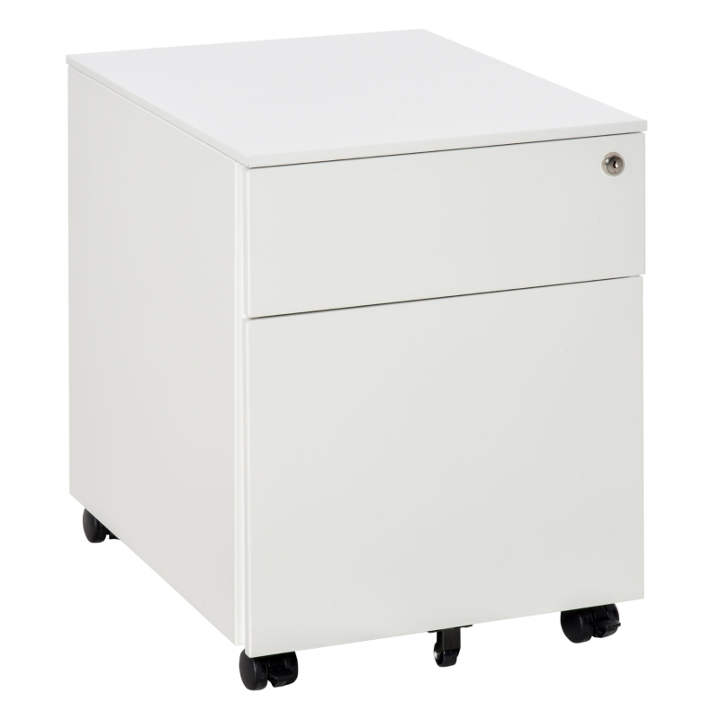 Vinsetto Mobile File Cabinet Steel Lockable with Pencil Tray Home Filing Furniture