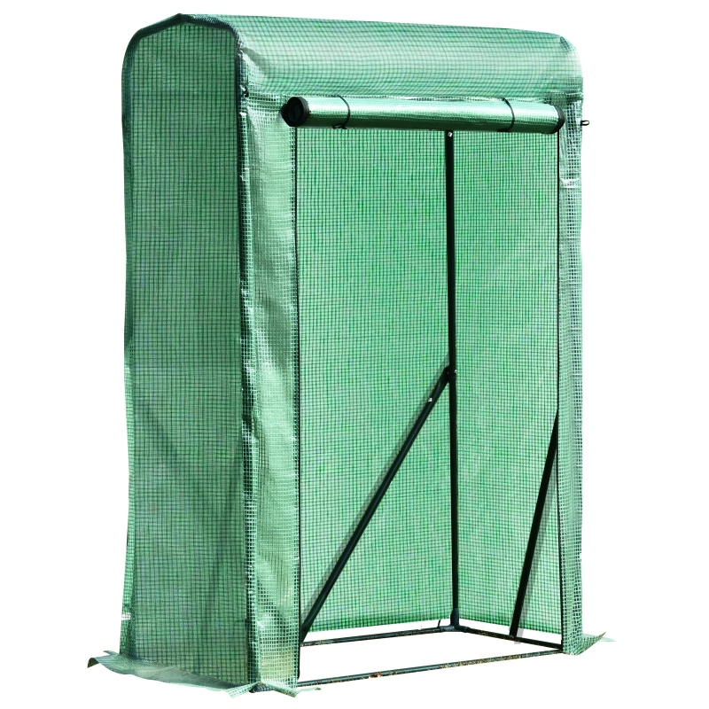 Outsunny Outdoor PE Greenhouse Steel Frame Plant Cover with Zipper 100L x 50W x 150HCM - Green