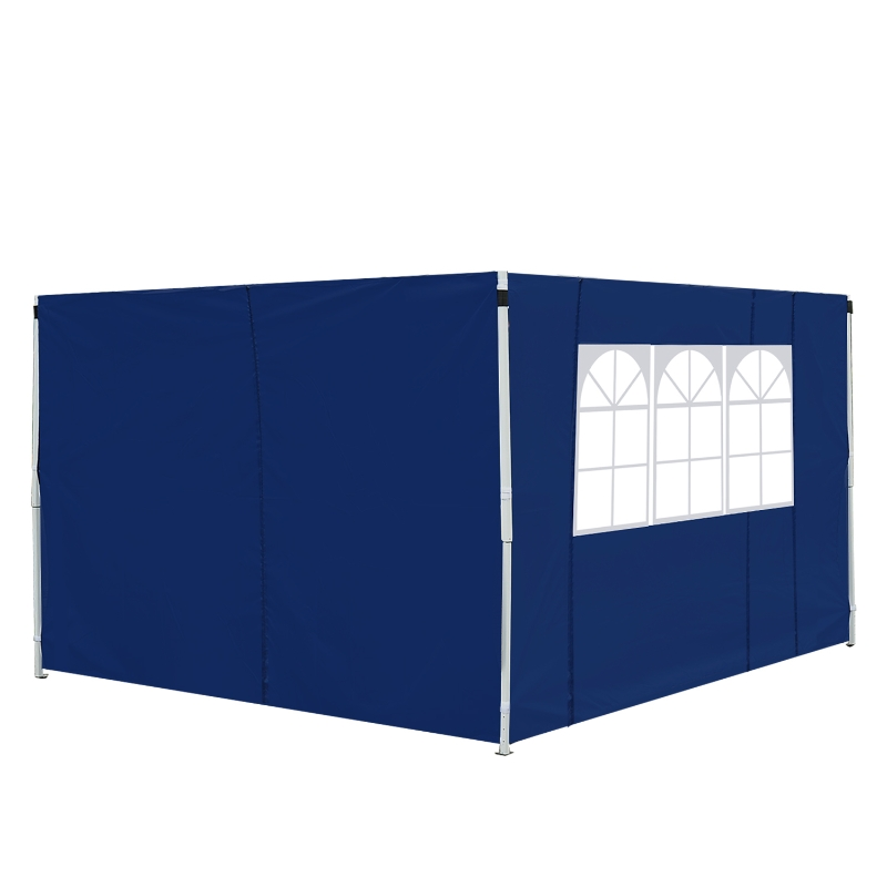 Outsunny 3m Gazebo Exchangeable Side Panel Panels W/ Window-Blue