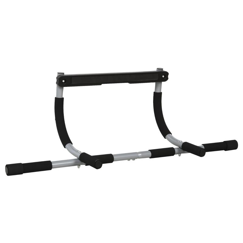 HOMCOM Steel Horizontal Home Pull-Ups Bar Silver/Black